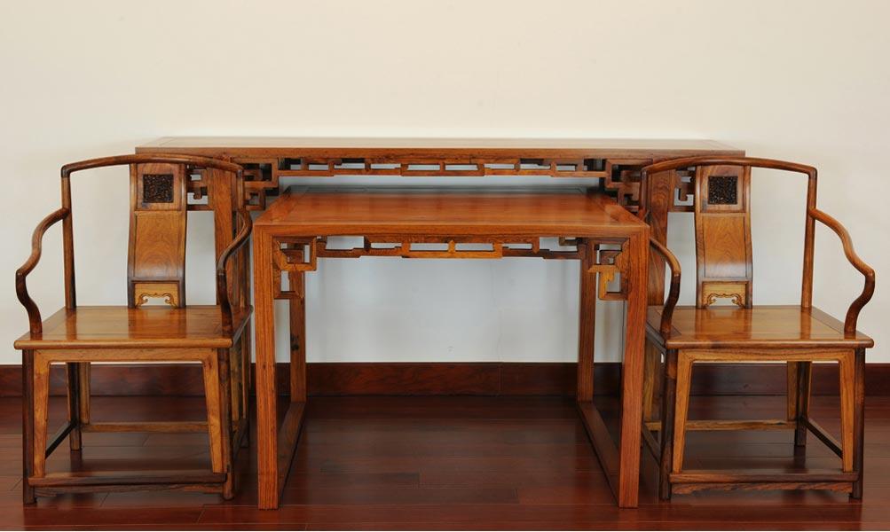 明式餐桌手绘三视图